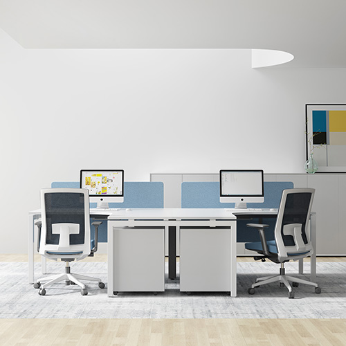 Office furniture designed for 2 people