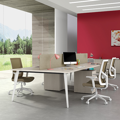 Modern office furniture set for 4 people
