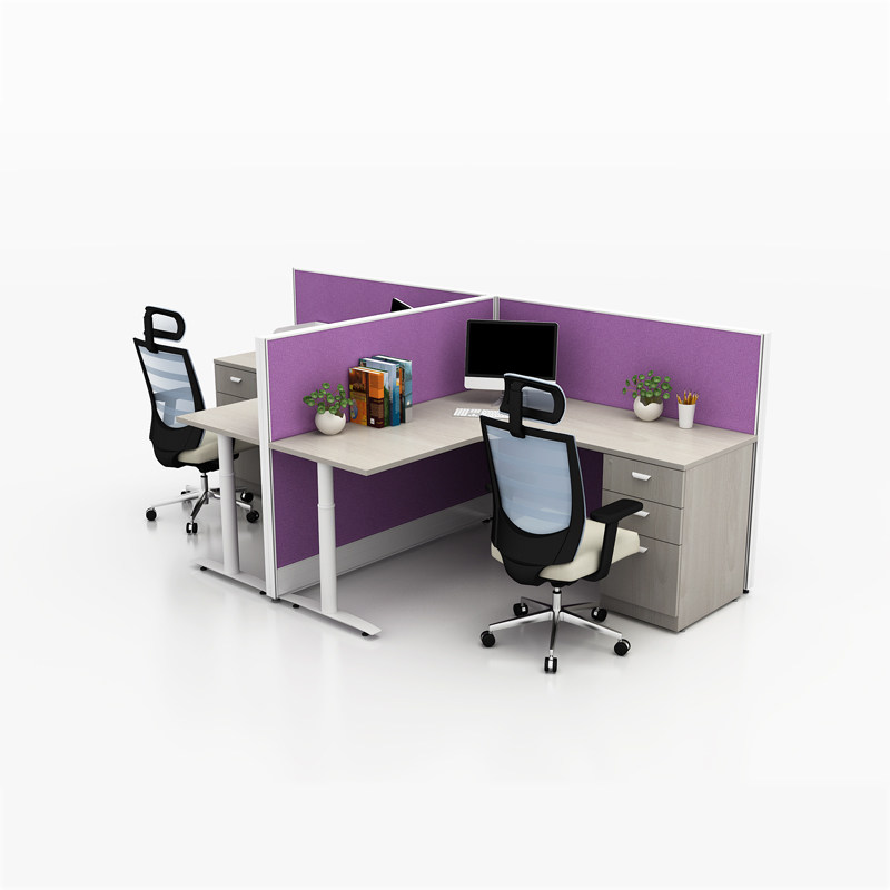 Double workstation desk for 2 person